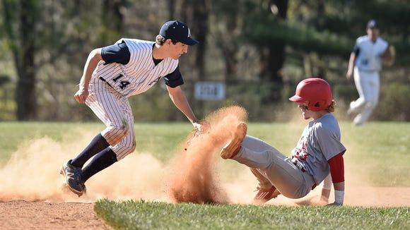 Asheville School's Chris Amoroso (14) was named to the All-Carolinas Athletic Association baseball team.