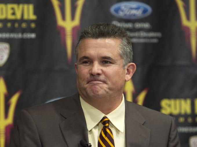 Todd Graham is introduced as ASU's head football coach