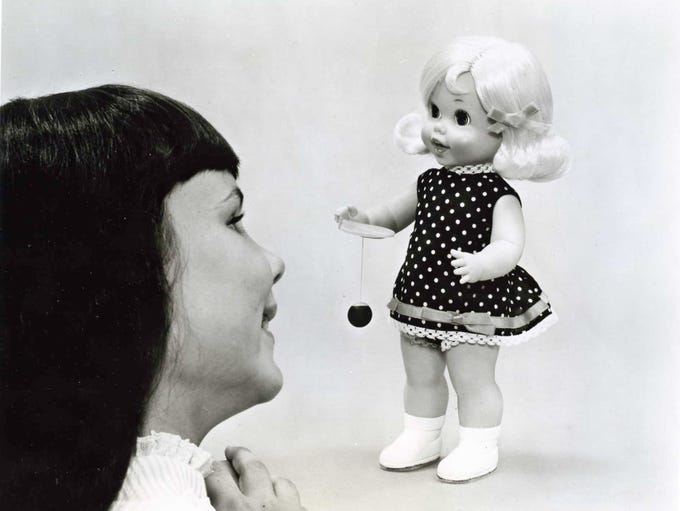 1970: Mattel's Baby Walk N Play doll.
