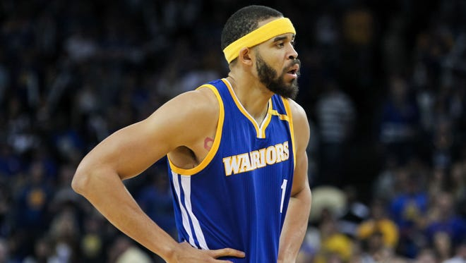 JaVale McGee during the third quarter against the Washington Wizards at Oracle Arena.