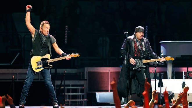 Bruce Springsteen and the E Street Band perform at the Blue Cross Arena at the War Memorial.