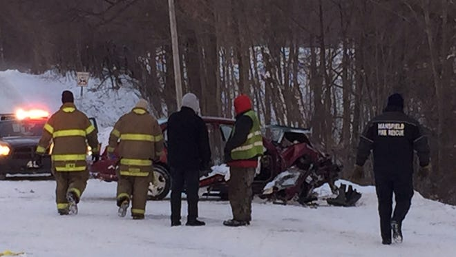 Richland County Coroner's Office is investigating what led to this fatal crash off Hanna Road, Friday. The victim has been identified as Robert E. Hartz.