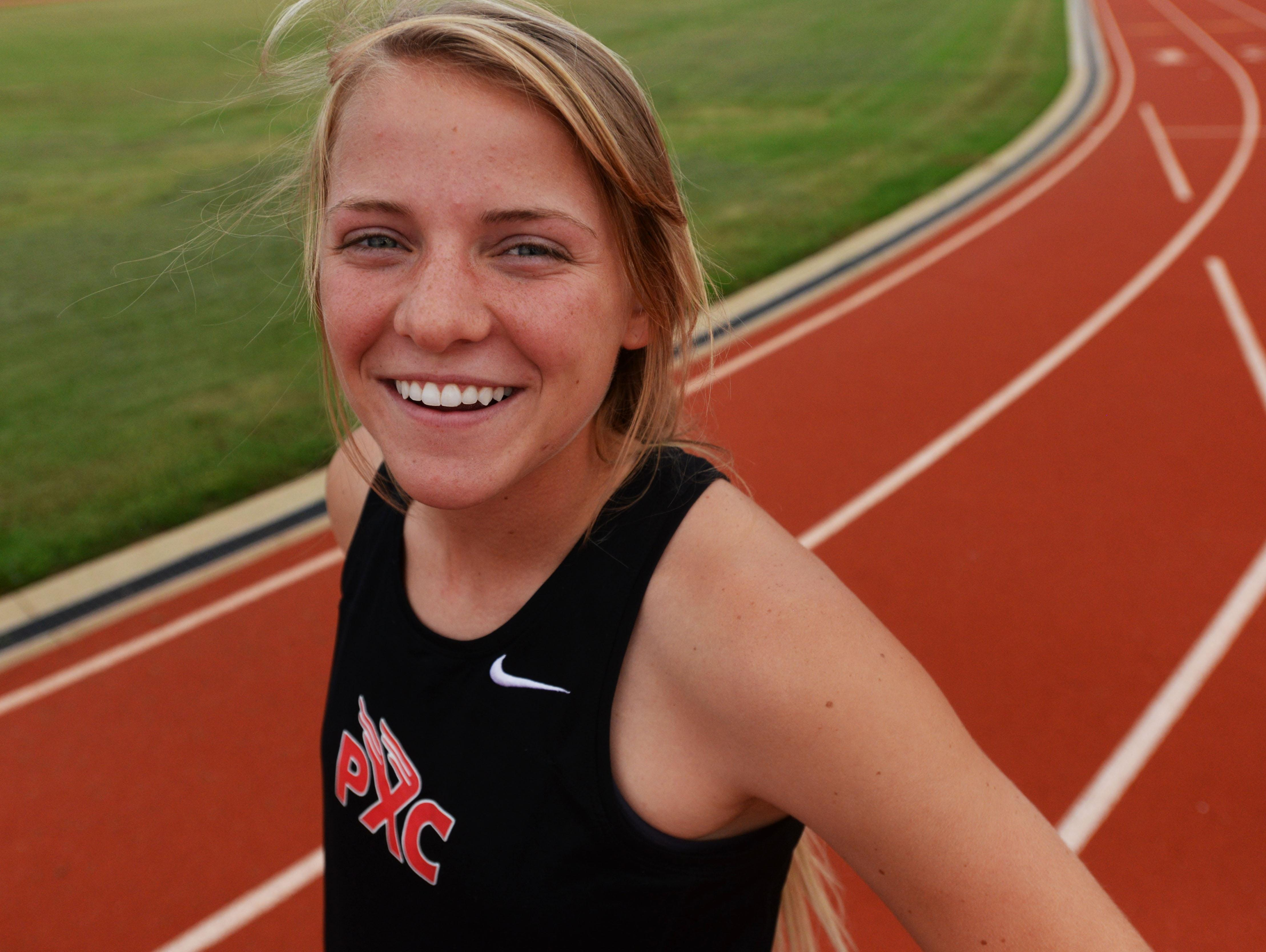 Parkway's Sara Funderburk leads the No. 3 Lady Panthers cross country team.