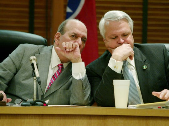 House Speaker Jimmy Naifeh, D-Covington, left, and