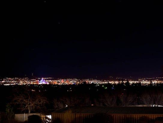 The night view from La Vecchia's patio.