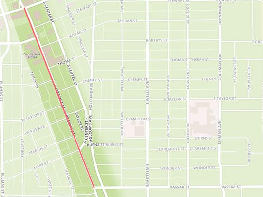 Liberty Street to Vassar Street