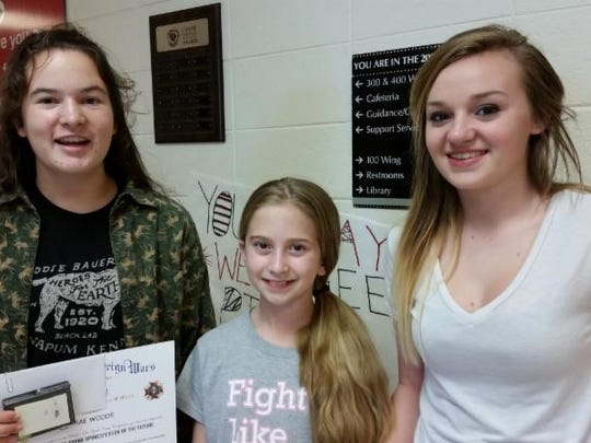 Patriot Pen winners from the Branson and Hollister