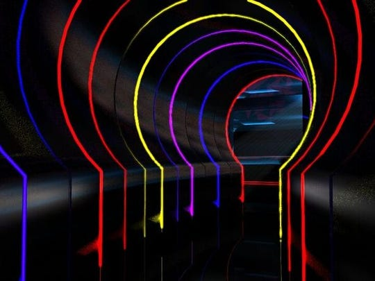 Guests will enter the former Comedy Spot space through a 50-foot tunnel wrapped in neon lights.