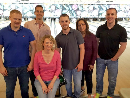 Baker Tilly employees participate in Big Brothers Big Sisters' annual fundraiser, Bowl for Kids' Sake. Pictured, from left, are: Charlie Price, Steve Mooney, Lynette Larson, Matt Grove, Cathy Grove and Erik Moore.