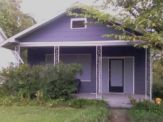 Todd Austin's home at 1621 Forrest Ave., which was