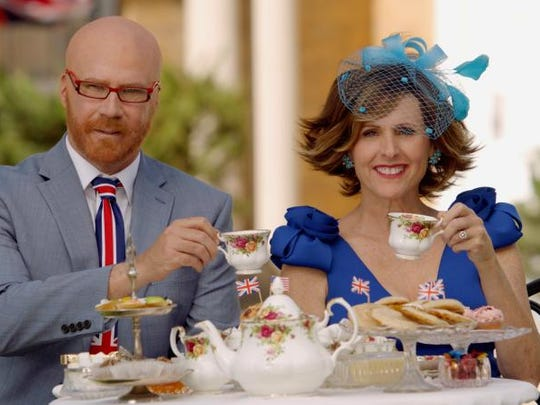 Will Ferrell as Cord Hosenbeck (left) and Molly Shannon