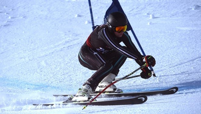 Reno's Will Casaceli wins the boy's combined during the NIAA ski racing championships at Mt. Rose Ski Tahoe on Feb. 14, 2018.