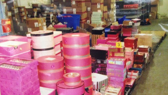 Police say a multimillion-dollar theft ring in Hazel Park, Mich., filled warehouses with stolen items before resale on the Internet.