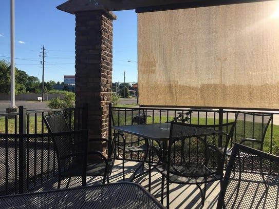 The patio of La Viva.