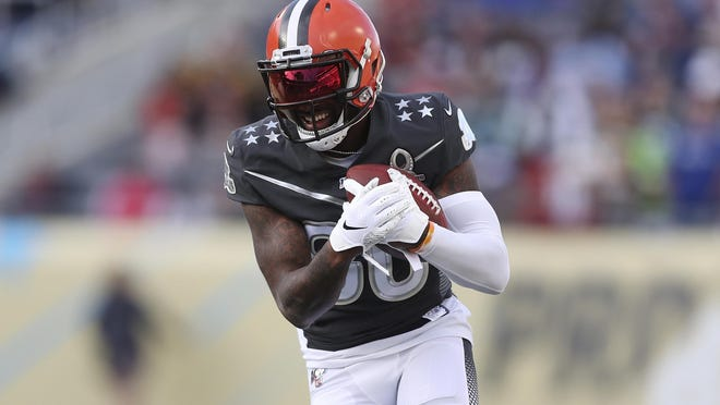 Wide reciever Jarvis Landry was among several Browns to take to Twitter on Sunday to seek answers from NFL about its COVID-19 safety plans.