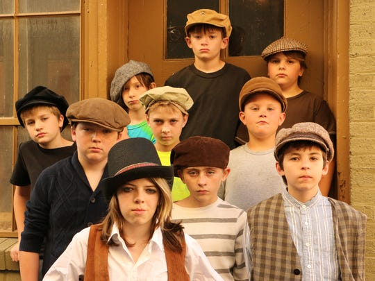 "Fagin's band of pickpockets from Hamilton-Gibson Productions' ""Oliver!"" includes the Artful Dodger (Gabe Guignard, front left) and Oliver (Logan Coolidge, front right). Among the other pickpockets are, at front center, Caden Snyder; second row from left, Alan Weed, Jayden Dumm and Carter Ackley; and third row from left, Joel Tubbs, Mason Malaczewski, Seth Neal and Ben Stocum."