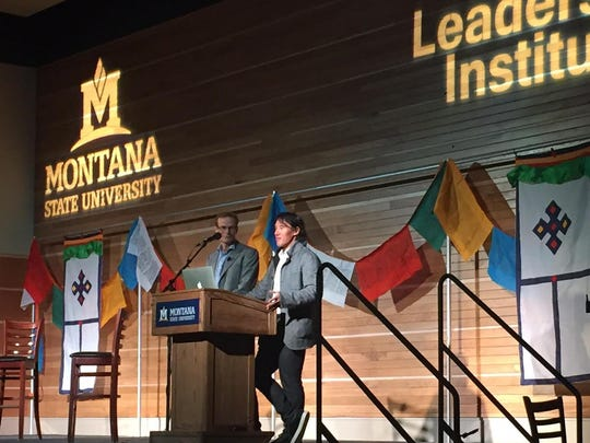 Renowned climbers Jimmy Chin and Conrad Anker visited the Montana State University campus on Monday to talk about some of the best climbing experiences they've had together.