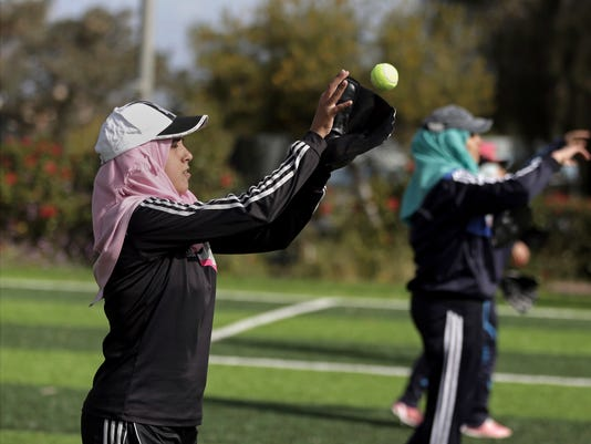 AP GAZA FEMALE BASEBALL TEAM I PSE