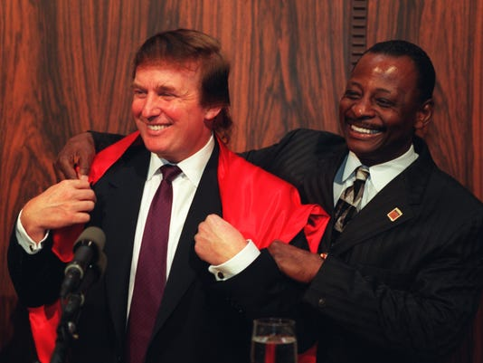 Mel Farr and Donald Trump in 1997