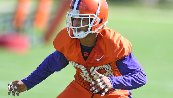 Clemson defensive back Amir Trapp (38) during the teams practice on Monday, August 15, 2016.