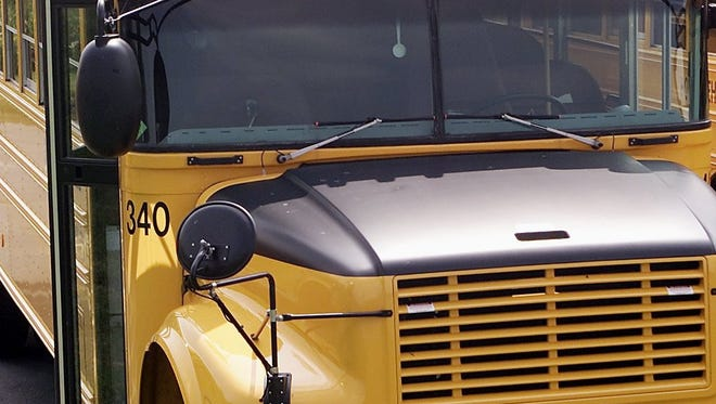 An Elmira school bus was involved in a traffic accident Thursday.