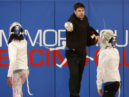 Tim Morehouse teaching fencing at Tim Morehouse Fencing
