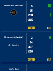 Mock up of what the Pacers No-Wait app will look like.