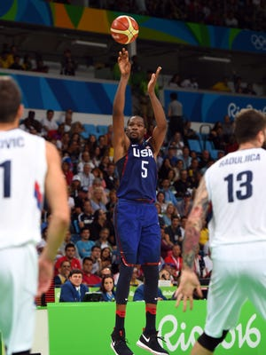 Kevin Durant poured in 30 points in the gold medal game.
