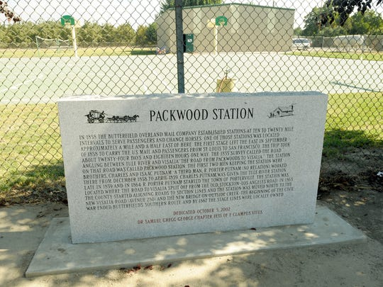 Outside Creek School turns 150 years old Friday. The Packwood Station historical marker sits on the southwest end of Outside Creek School, which is located just south of Farmersville at 26452 Road 164, Visalia.