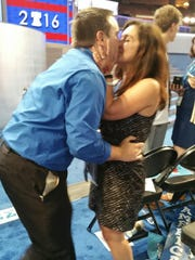 Arizona Democrat Steven Slugocki proposed to his girlfriend-delegate, Megan McPherson, at the Democratic National Convention on Tuesday night.