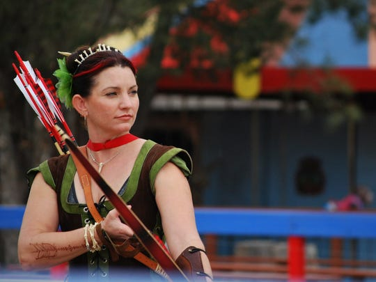 Kris Johnston will demonstrate how to shoot the English long bow at the 18th annual Ingleside Renaissance Faire on Saturday and Sunday.