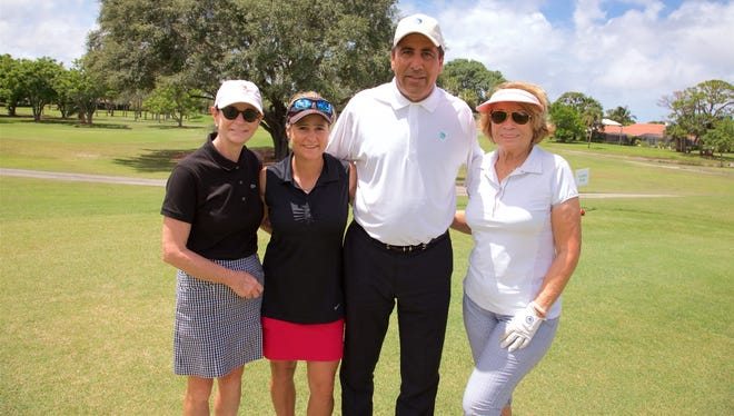 Anne Cooling, Allison Lepping, Victor Tortorici, and Karen Vessely  golfed in the 2018 Robert F. Novins Memorial Golf for Life Tournament.