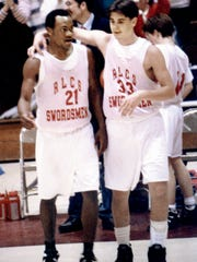 Red Lion Christian's Frank Hawkins, left, held the York County scoring record when he graduated high school.
