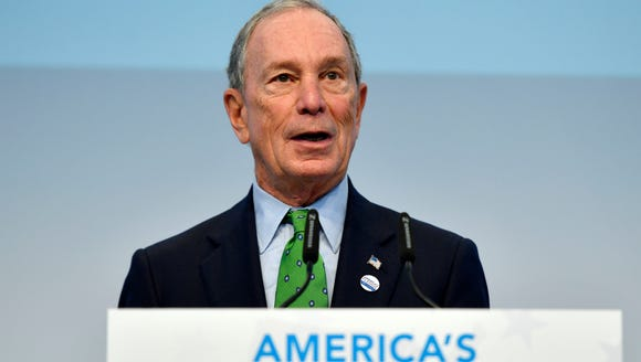 Former New York mayor Michael Bloomberg speaks during a 2017 climate change conference in Bonn, Germany.