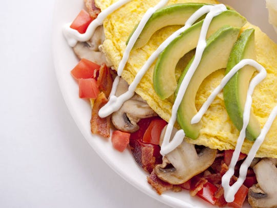 The No Name omelet at Broken Yolk Cafe.