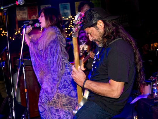Neptune City native Nicole Atkins and Metallica's Robert Trujillo perform with Funk The Bass at The Stone Pony for the JACO documentary after party, part of the Asbury Park Music In Film Festival. Saturday, April 11, 2015, Asbury Park, NJ. Mike McLaughlin/Asbury Park Press ASB 0411 AP MUSIC in FILM FESTIVAL at STONE PONY