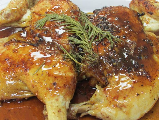 Pressed Chicken With Black Pepper Maple Sauce