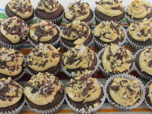 Coca Cola Cupcakes With Salted Peanut Butter Frosting & Peanut Sprinkles