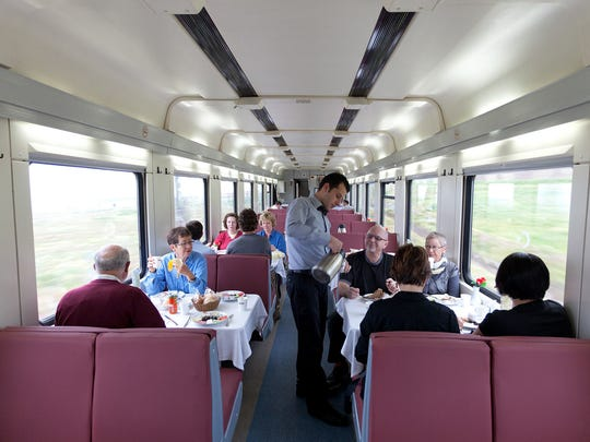 Some of Europe's trains offer dining cars with wait