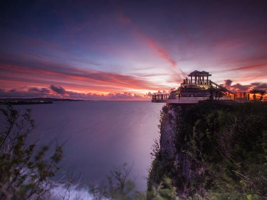 Guam is known for it's colorful sunsets, and the best place to capture the show is Two Lovers Point in Tamuning.