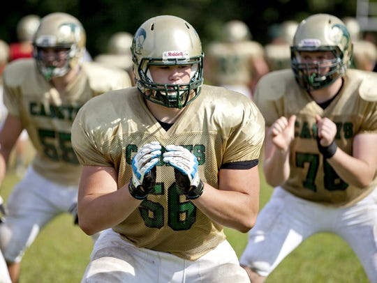 Quenton Nelson, shown during his days at Red Bank Catholic,