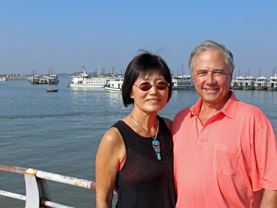 "Hyonsuk ""Sue"" and John Harvey explored Vietnam recently;"