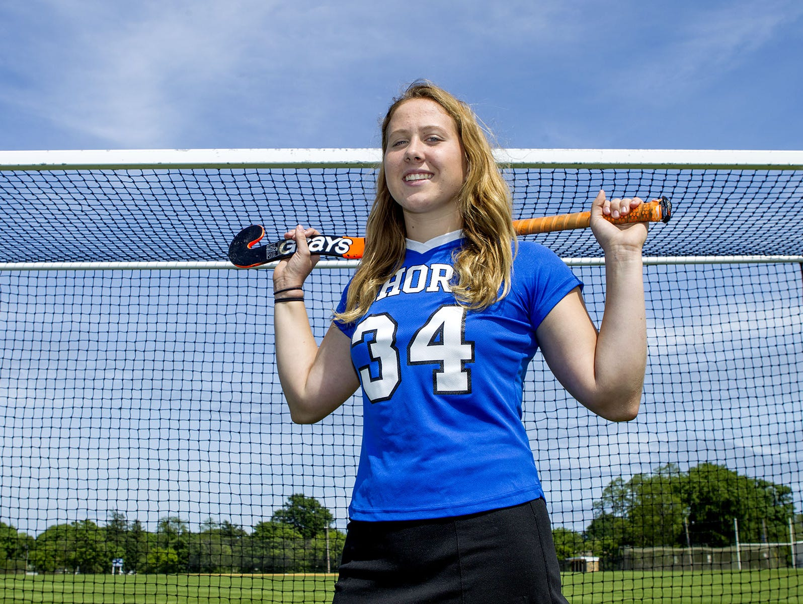 MIKE MCLAUGHLIN/CORRESPONDENT Shore Regional goalkeeper Sarah Dwyer has committed to play field hockey at Boston College. Shore Regional Junior field hockey starting goalie Sarah Dwyer, going into her senior year in the fall, has committed to an athletic scholarship from Boston College. Wednesday, June 3, 2015, West Long Branch, NJ. Mike McLaughlin/Asbury Park Press ASB 0612 Sarah Dwyer
