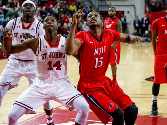NJIT junior Terrence Smith (15) helped the Highlanders win 83-74 at St. John's on Dec. 20.