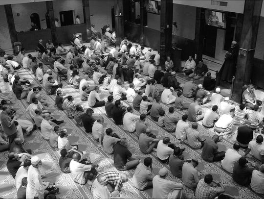 Listening to the Imam, Dar Al-Hijrah, in Falls Church,