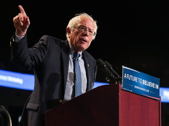 Bernie Sanders held A Future to Believe In  Rally at the Bon Secours Wellness Arena February 21 , 2016