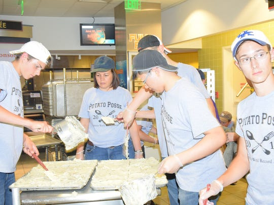 Four Union-Endicott seniors are now Guinness World Record holders for the largest serving of mashed potatoes.