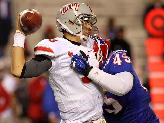 Vernon Butler records a sack against UNLV in 2012.