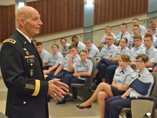 Retired U.S. Army Lt. Gen. Keith Huber, MTSU's senior