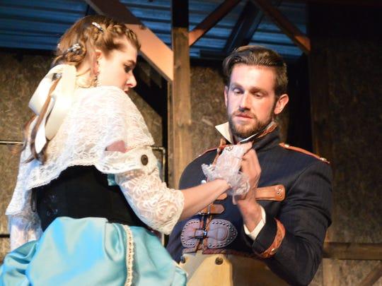 Maretta Zilic as Luciana and Darek Riley as Antipholus